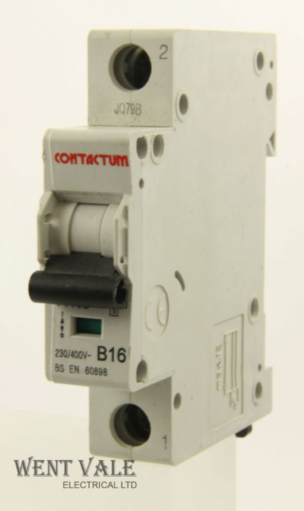 Contactum 7116B - 16a Type B Single Pole MCB Used